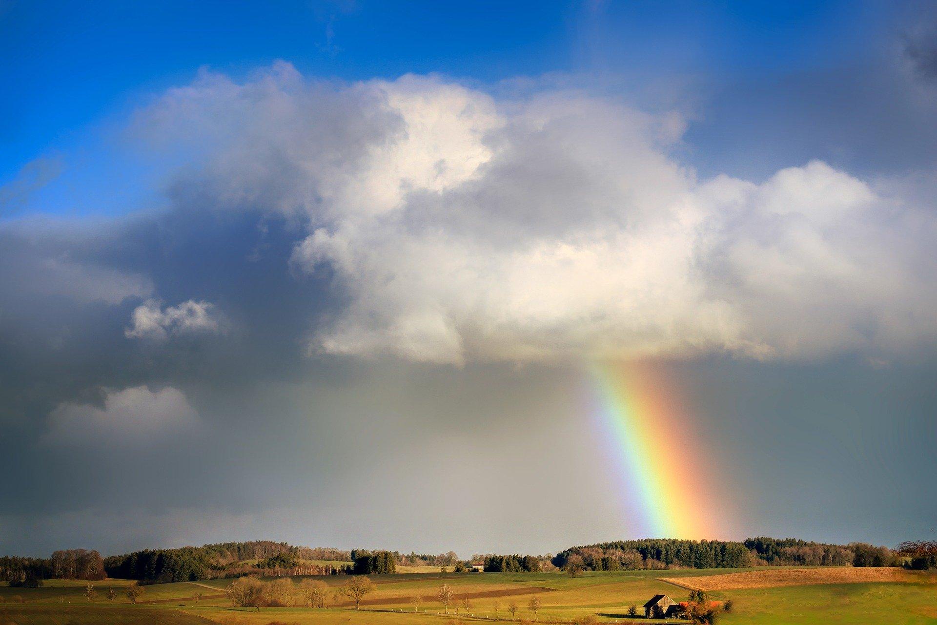 Rainbow from a cloud