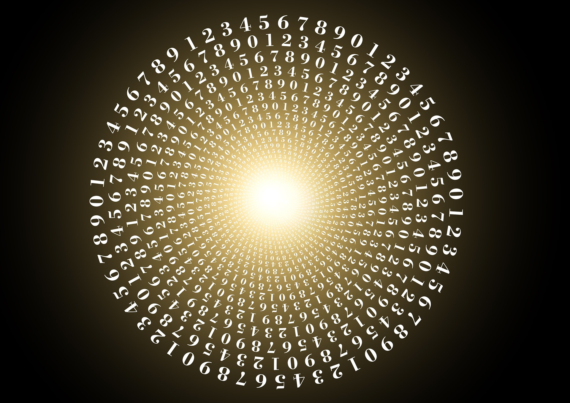 Numbers in a circular pattern