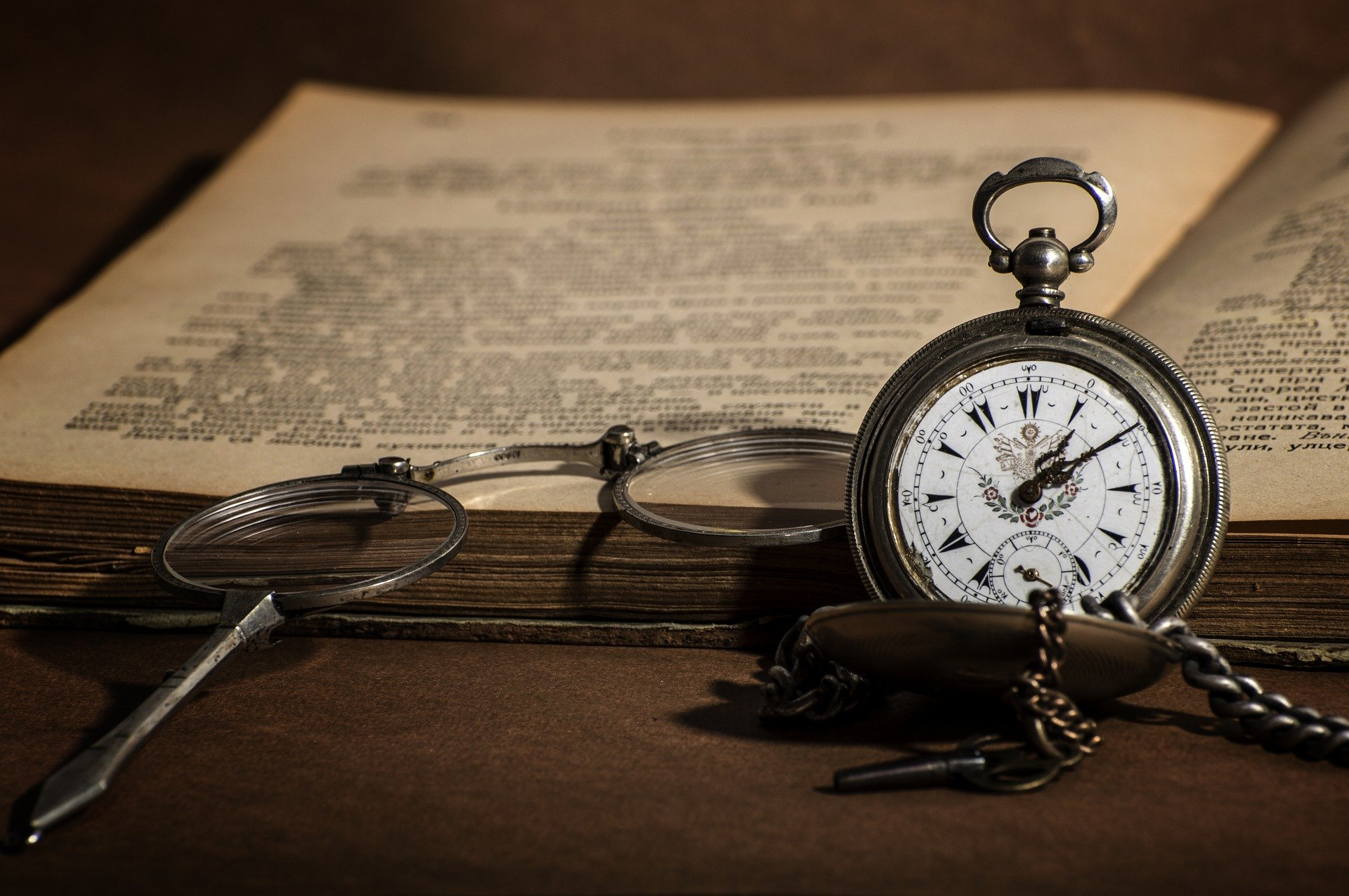 An old watch and book